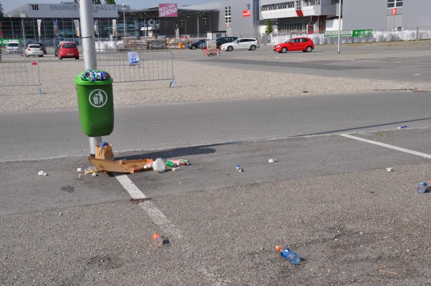 Abfall-Messegelände