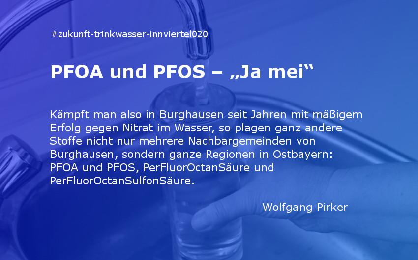 """PFOA und PFOS – """"Ja mei"""""""