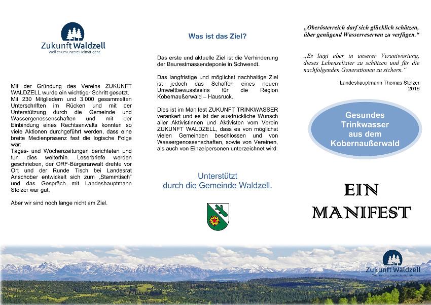 Manifest Trinkwasser